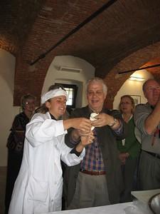 Professor Frassica braiding mozzarella - Mibs Mara