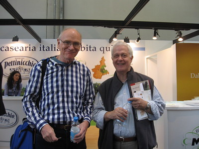 Kent Simons '57 and Professor Frassica, Salone del Gusto - Mibs Mara