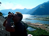 Kelsey takes a shot with Squamish's logging port filling the background.