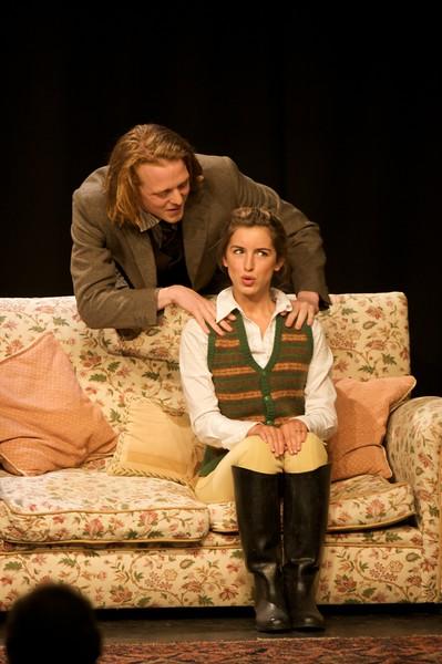 Bill and Jill • Bill (Ben Dollard), and Jill (Elise Carter) in performance.