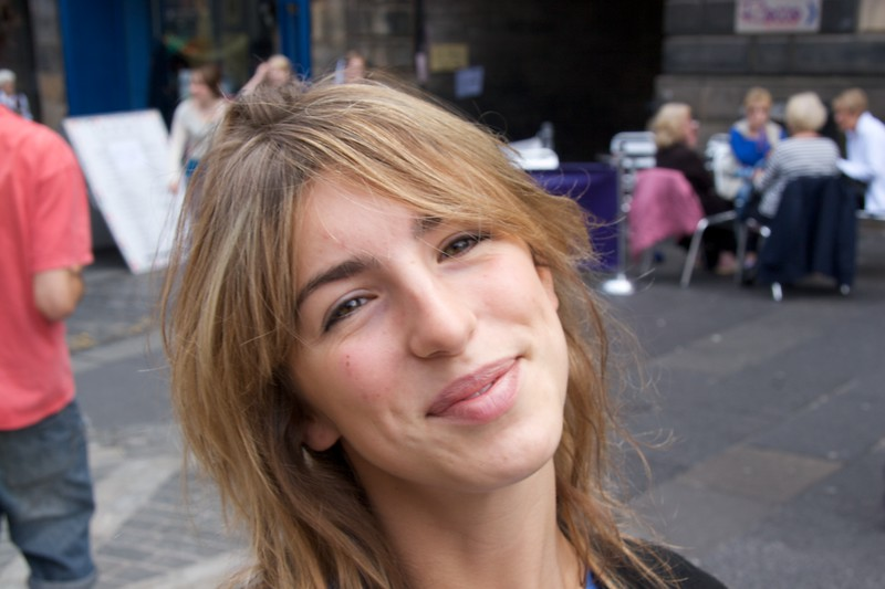 Elise • Elise Carter on the Royal Mile.
