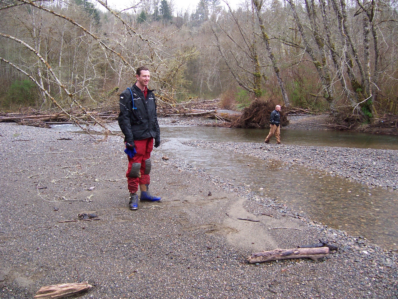 Dave and Jay checking out the Tahuya River on our 5 acre tract.