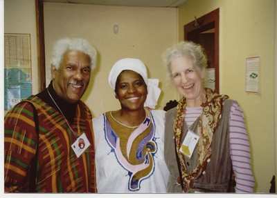 Al and Julia Raboateu and guide Afriya in Selma - Bob Durkee