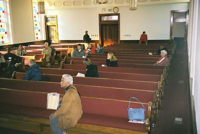 Princeton group reflecting in church - Bob Durkee