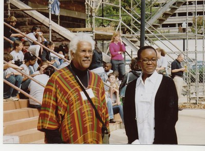 Al Raboteau and Val Smith in front of Sixteenth Street Baptist Church - Bob Durkee