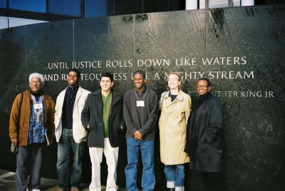 Current students and Study Leaders at the Civil Rights Memorial - Bob Durkee