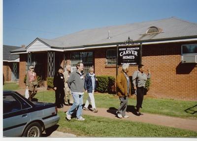Princeton group outside Carver Homes - Bob Durkee