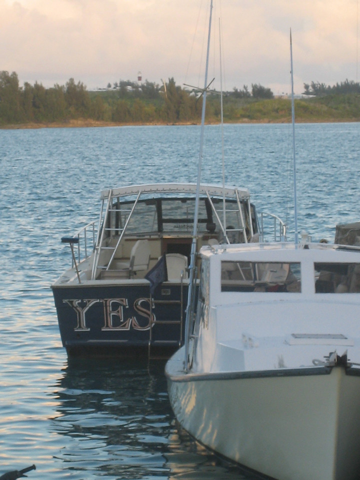 """Jordan loved this picture because the boat was named, """"YES"""".  How appropriate."""