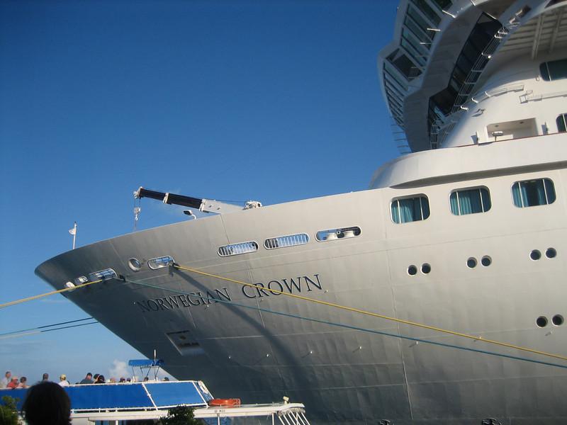 Docked in King George's Wharf, Bermuda.