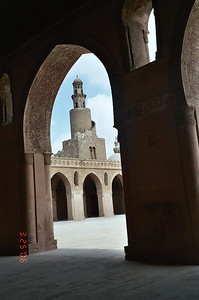 Ibn Tulun 9th century mosque: minaret with external staircase - Ruth Jones