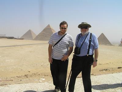 Danny and Ed Turner plus the Pyramids of Giza  -Ed Turner