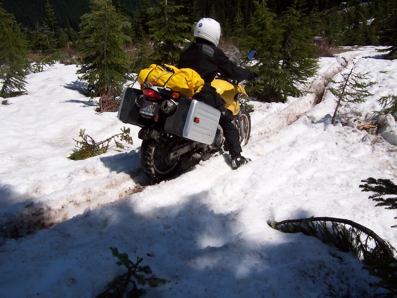 a loaded BMW F650 GS made it.
