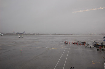 This is what I left in Seattle -- the view outside my flight's terminal.