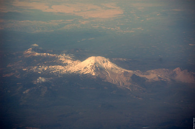 Could it actually be Mt. St. Helens?  I'm not sure.