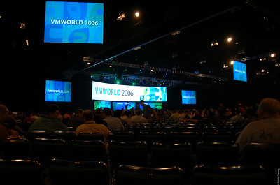People sitting down for the first day's Keynote.  Total attendance was somewhere around 6,800 people.