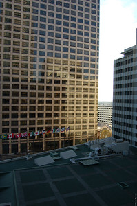 The wonderful view out my hotel room window at the Wilshire Grand.