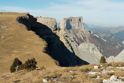 Vallon de Combau - Les crêtes de Tête Chevalière Mont Aiguille