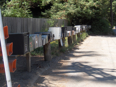 Mailboxes across the street from Alice's Restaurant