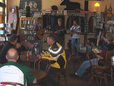 LIve music in the San Gregorio General Store