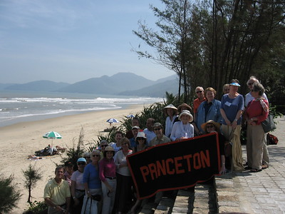 Group photo at beach - Leslie Rowley