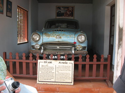 Monk's car at temple - Leslie Rowley