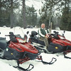 Jack Goessl & I snowmobiling from Tomahawk up to Butternut (N of Park Falls, wi)   march 2006