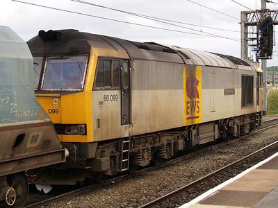 60099 1744 Empty Hoppers into Warrington Arpley