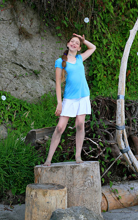Ilana, a born performer.