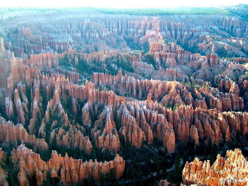 Bryce Canyon was a brief stop for us after leaving Zion.  The scenery here is incredible, with eerie sandstone hoodoos springing from the landscape all around.   We ate lunch, took a couple pictures, and hit the road again.
