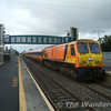 201 passes through Monasterevan with the up Galway passenger into Heuston. Sun 17.09.06