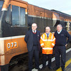 Left to right: Loco 073 (can't leave her out!), Guard Noel Enright, Station Manager Pat Hopkins and Driver Dessy Gallagher. Sat 09.12.06