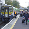 2614 + 2617 empties its passengers after arriving with the 1345 Tralee - Killarney service. Sun 05.11.06.
