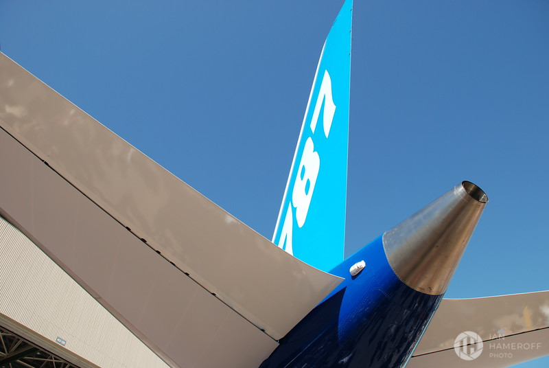 Tail of the Boeing 787 Dreamliner