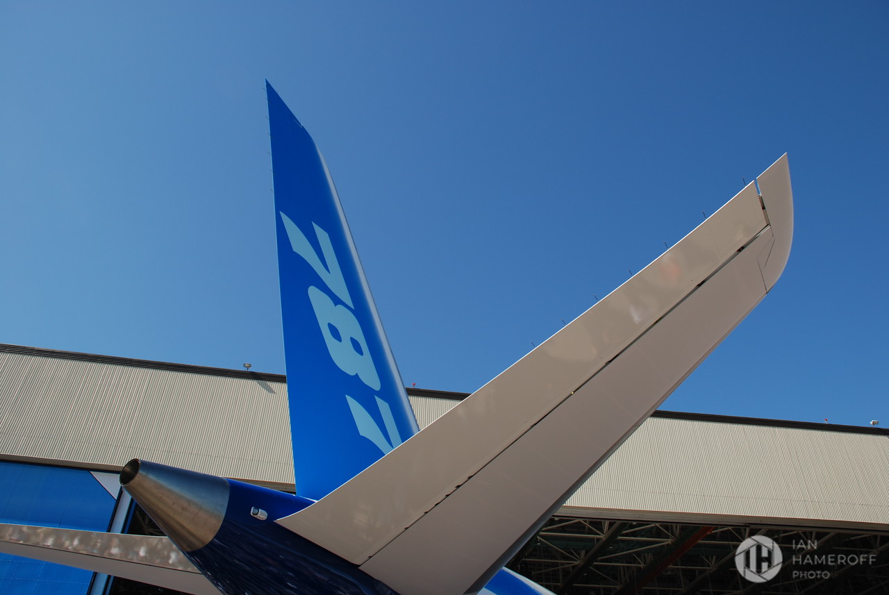 Tailfin of the Boeing 787 Dreamliner