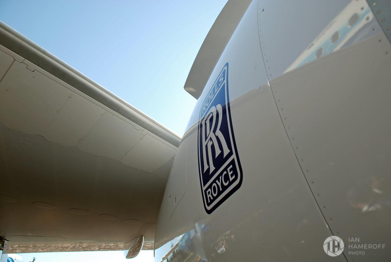 Rolls Royce Engine on the Boeing 787 Dreamliner