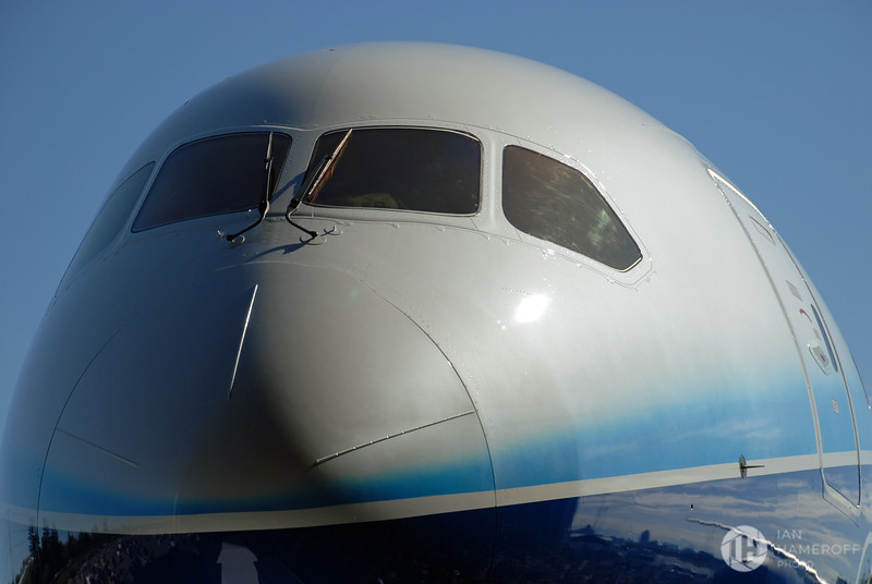 Front Nose of Boeing 787 Dreamliner