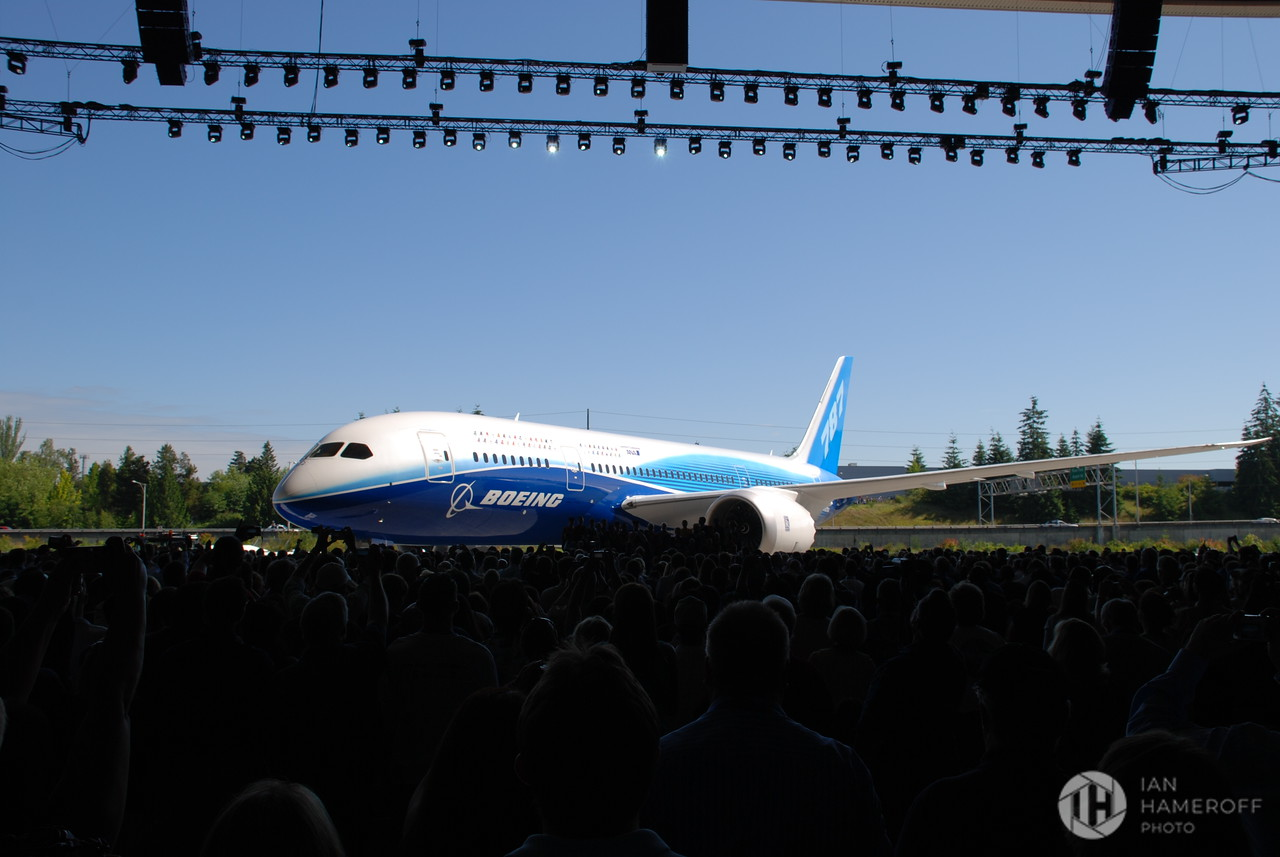 Boeing 787 Dreamliner at the Moment of Rollout