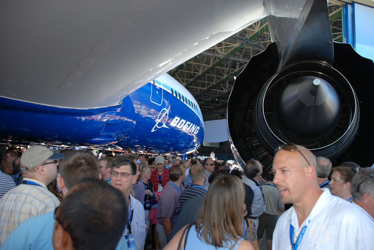 Dreamliner Surrounded by Team 787