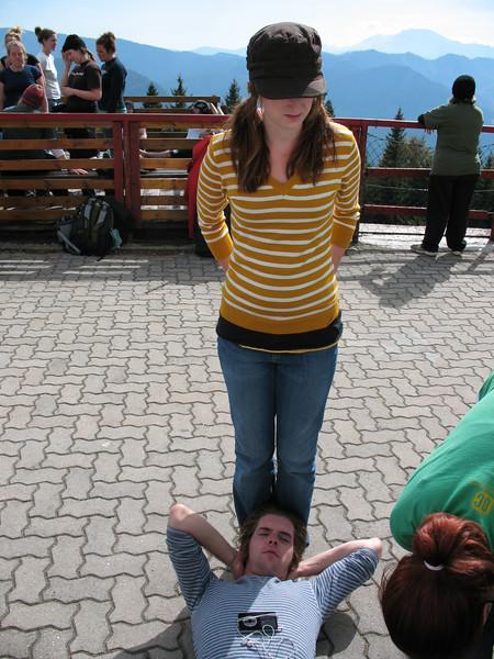 Danelle , Danelle's Legs, Josh's Head, Josh's Torso.