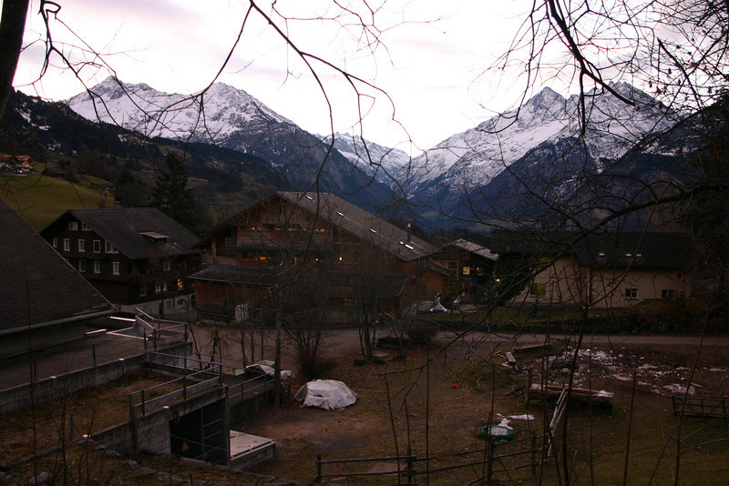 View from Ecole d'Humanité in Hasliberg toward Grimsel Pass
