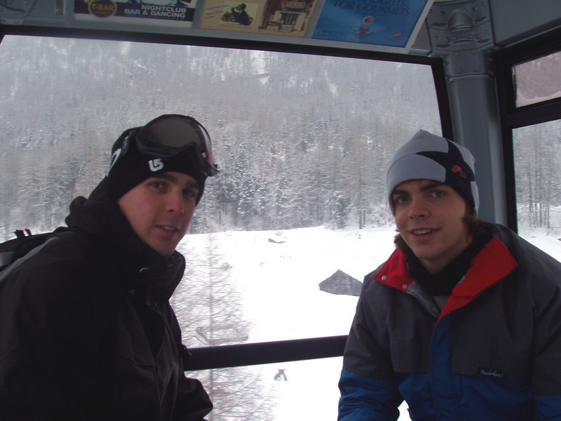 Jake and Kieth in the gondola