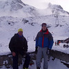 Steve and Kieth, at Trockener Steg, I think.  The peaks above them are probably Breithorn and Kleine Matterhorn.