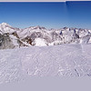 Photomerge panorama of the view toward the black run (difficult) from Allalin