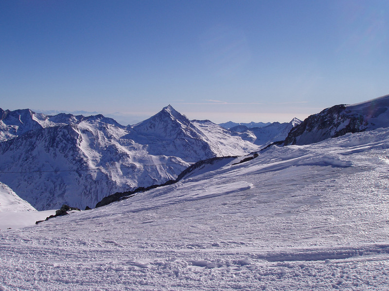 View from Allalin, top of Saas-Fee ski area, 3500m