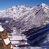 View of Saas-Fee and the Saastal from Spielboden