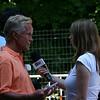 Ambassador Coneway being interviewed