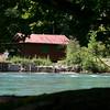 Hut across Aare River
