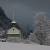 Snowy scene at Bunderbach   (The church is the Evangelisch-reformierte Kirche Kandergrund)