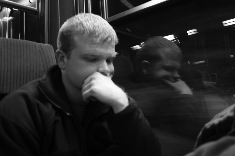 Doug on the Jungfraubahn