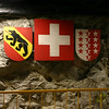 Shields of the cantons of Bern and Valais.  Jungfraujoch is on the border between the two.